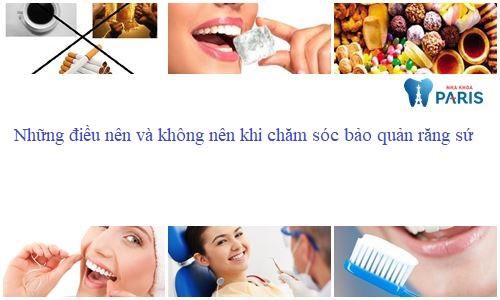 Cách bảo quản răng sứ1