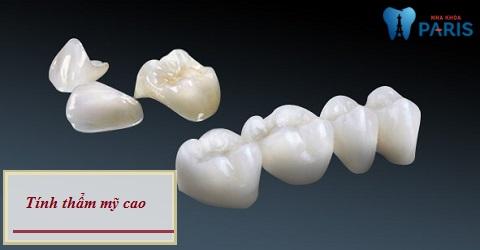 Răng toàn sứ Cercon đem lại tính thẩm mỹ cao