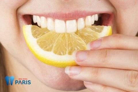 Chanh - Nguyên liệu thiên nhiên giúp răng sáng bóng